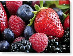 Assorted Fresh Berries Acrylic Print by Elena Elisseeva