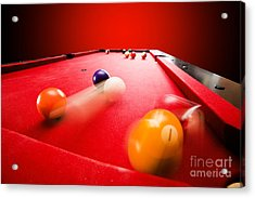 Billards Pool Game Acrylic Print by Michal Bednarek