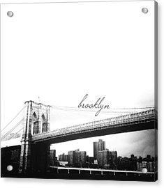 Brooklyn Acrylic Print by Natasha Marco