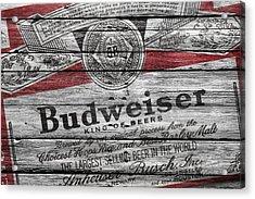 Budweiser Acrylic Print by Joe Hamilton