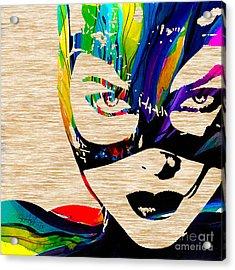Catwoman Acrylic Print by Marvin Blaine