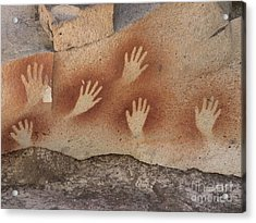 Cave Of The Hands Argentina Acrylic Print by Javier Trueba MSF SPL