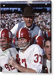 Coach Bear Bryant Acrylic Print by Retro Images Archive