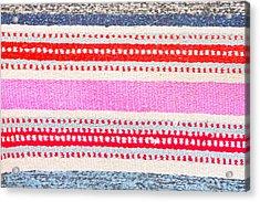 Colorful Rug Acrylic Print by Tom Gowanlock