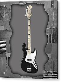 Fender Bass Guitar Collection Acrylic Print by Marvin Blaine