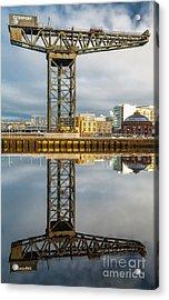 Finnieston Crane Glasgow Acrylic Print by John Farnan