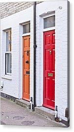Front Doors Acrylic Print by Tom Gowanlock