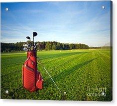 Golf Gear Acrylic Print by Michal Bednarek