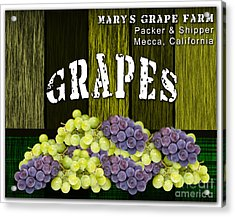 Grape Farm Acrylic Print by Marvin Blaine