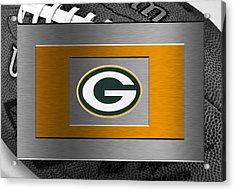 Green Bay Packers Acrylic Print by Joe Hamilton