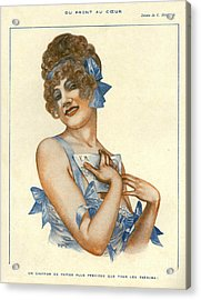 La Vie Parisienne 1916 1910s France Acrylic Print by The Advertising Archives
