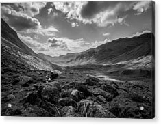 Langdale Acrylic Print by Mike Taylor