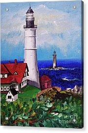 Lighthouse Hill Acrylic Print by Linda Simon