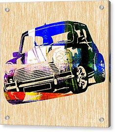 Mini Cooper Acrylic Print by Marvin Blaine