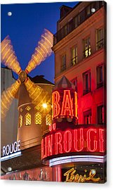 Moulin Rouge Acrylic Print by Brian Jannsen