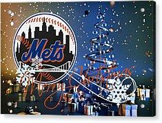 New York Mets Acrylic Print by Joe Hamilton