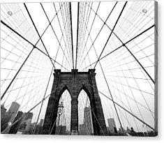 Nyc Brooklyn Bridge Acrylic Print by Nina Papiorek