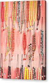 Prayer Beads Acrylic Print by Tom Gowanlock