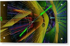 Proton Collision Acrylic Print by Science Photo Library