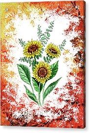 Sunflowers Acrylic Print by Irina Sztukowski