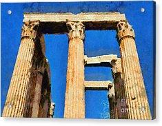 Temple Of Olympian Zeus  Acrylic Print by George Atsametakis