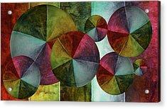 5 Wind Worlds Acrylic Print by Angelina Vick