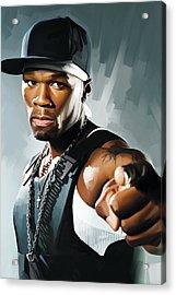 50 Cent Artwork 2 Acrylic Print by Sheraz A