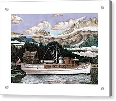 53 Foot Classic Yacht North To Alaska Acrylic Print by Jack Pumphrey