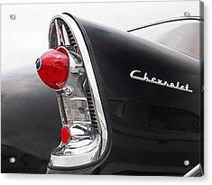 56 Chevy Rear Lights Acrylic Print by Gill Billington
