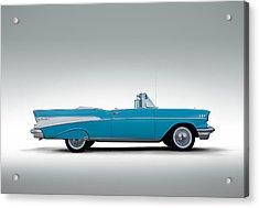 57 Chevy Convertible Acrylic Print by Douglas Pittman
