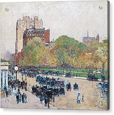 Spring Morning In The Heart Of The City Acrylic Print by Childe Hassam