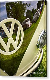 57 Vw Reflections Hdr Acrylic Print by Tim Gainey