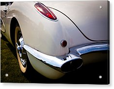 1959 Chevy Corvette Acrylic Print by David Patterson