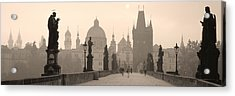 Charles Bridge Prague Czech Republic Acrylic Print by Panoramic Images