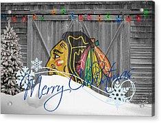 Chicago Blackhawks Acrylic Print by Joe Hamilton