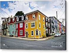 Colorful Houses In St. John's Newfoundland Acrylic Print by Elena Elisseeva