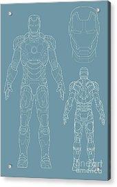 Iron Man Acrylic Print by Unknow