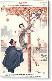 Le Sourire 1920s France Glamour Erotica Acrylic Print by The Advertising Archives