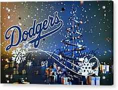 Los Angeles Dodgers Acrylic Print by Joe Hamilton