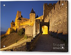 Medieval Carcassonne Acrylic Print by Brian Jannsen