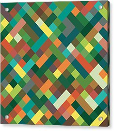 Pixel Art Acrylic Print by Mike Taylor