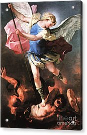 St. Michael Acrylic Print by Archangelus Gallery