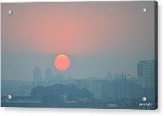 Sunset Acrylic Print by Paulo Zerbato