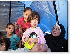 Syrian Refugees Acrylic Print by Ashley Cooper