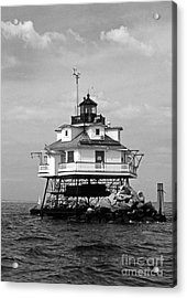 Thomas Point Shoal Lighthouse Acrylic Print by Skip Willits