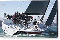 Upwind On The Bay Acrylic Print by Steven Lapkin