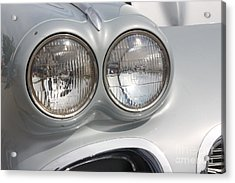 61 Corvette-grey-headlights-9235 Acrylic Print by Gary Gingrich Galleries