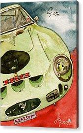 62 Ferrari 250 Gto Signed By Sir Stirling Moss Acrylic Print by Anna Ruzsan