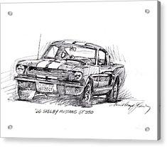 66 Shelby 350 Gt Acrylic Print by David Lloyd Glover