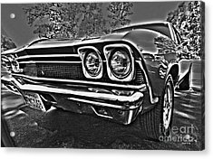 68 Chevelle Acrylic Print by Cheryl Young